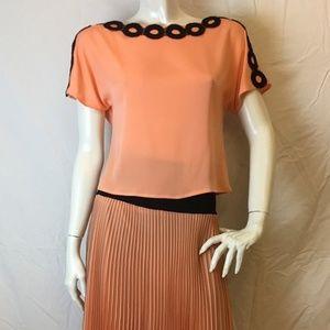 Giorgio Grati Coral Circle Top and Skirt